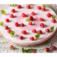 Fresh Raspberry Swirl Cheesecake - 9 Inch