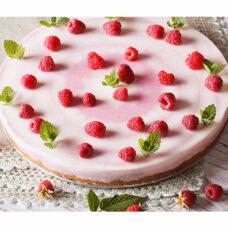 Fresh Raspberry Swirl Cheesecake - 9 Inch