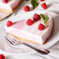 Fruity Raspberry Twirl Cheesecake - 9 Inch