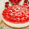 Strawberry Topped New York Cheesecake