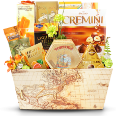 The Mysterious Island Faux Leather Gift Basket