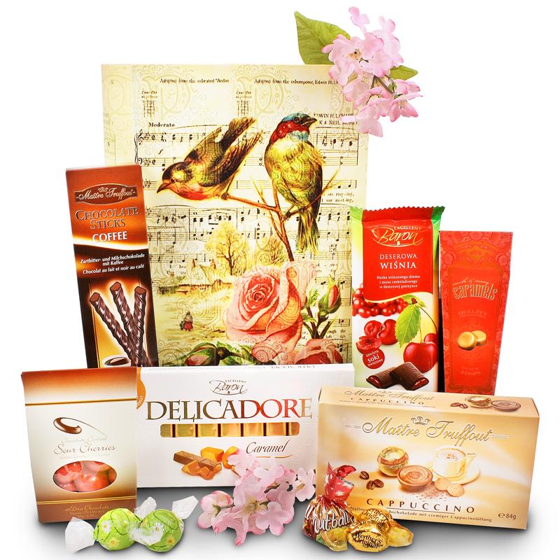 Singing Bird Book Box with Chocolates - Medium