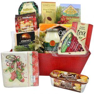 English Treats - Christmas Cheese Basket