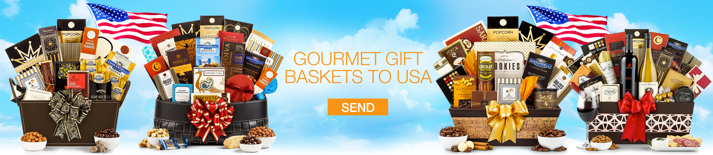 Gift Baskets to USA - Gourmet Gift Baskets Store