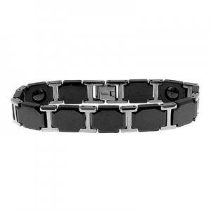 Tungsten & Ceramic Men's Bracelet