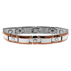 Man's Tungsten Bracelet - Crystals