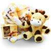 Plush animal and blanket gift set