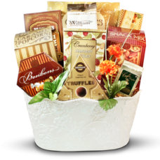 Golden Memories - Sympathy Gift Basket