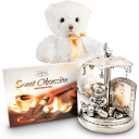 Pewter Musical Carousel Baby Gift