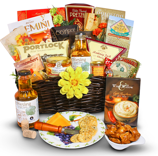 Cheese and Wine Pleasers - Gourmet Gift Basket Store