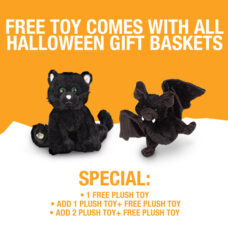 Free Plush Toy with all Halloween Gift Basket