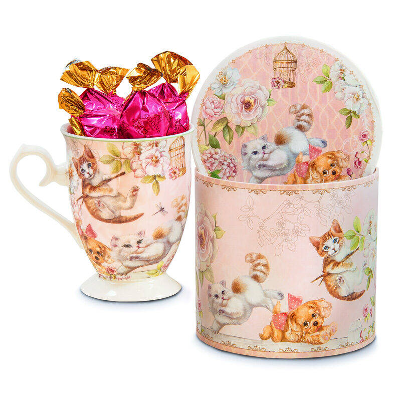 Puppies and Kittens Mug Chocolates Gift