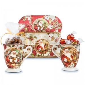 Santa Mugs and Chocolates Gift Set