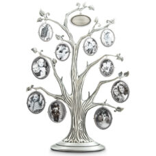 Family Tree Pewter with 10 Picture Frames - Double sided
