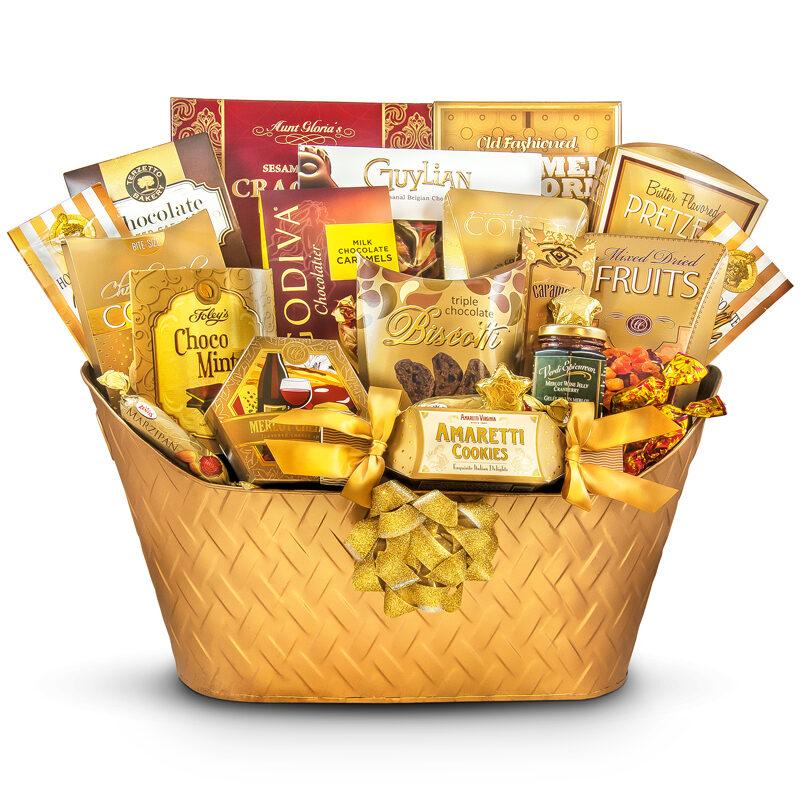 Golden Greeting - Lavishing Celebration Gift Basket