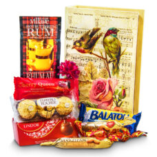 Love Birds Gift Box and Gourmet Chocolates-Small
