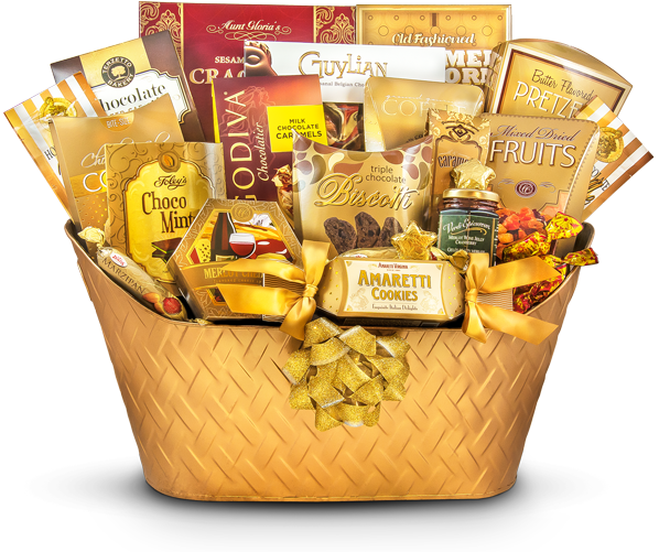 golden greeting lavishing holiday gift corporate gift baskets