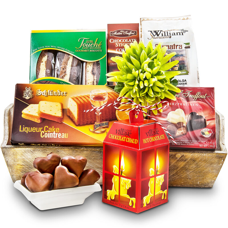 Coffee & Chocolates Gift Basket Premium