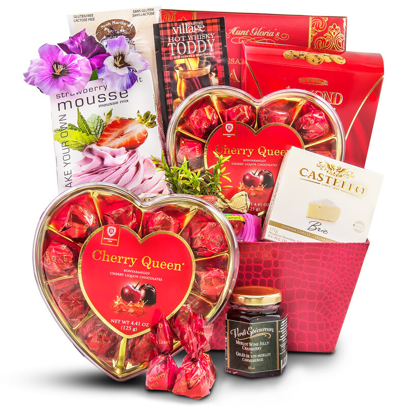 Midnight snacks romantic valentines gift canadagourmet gift basket store midnight snacks romantic valentines gift negle Image collections