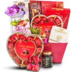 Valentines Day Gift Basket Midnight Snacks – Romantic Valentine's Day Gift Basket - Gourmet Gift Basket Store