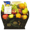 Gourmet Fruit Baskets with cheese