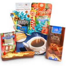 Coffee & Biscotti Indulgence Gift Basket
