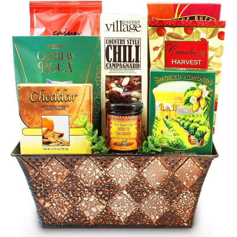 His Favorite Gourmet Treats - Gift Basket for Men