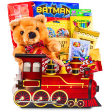 Conductor Train Children Gift Basket