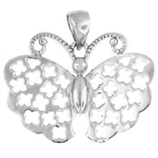 "Butterfly Silver Pendant & 20"" Snake Chain"