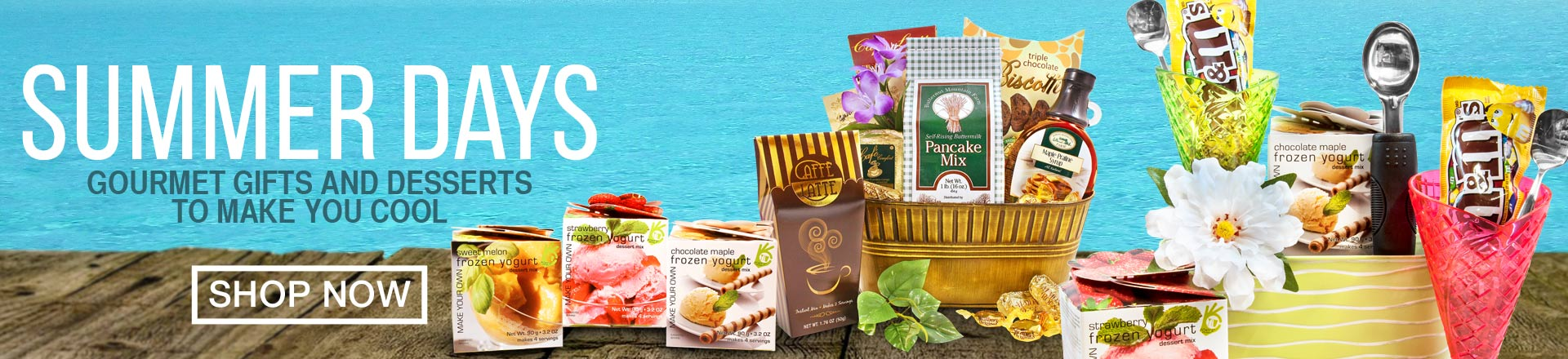 Summer Gifts and Gift Baskets, Flowers, Cakes by Gourmet Gift Basket Store