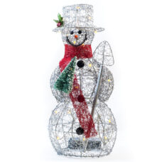 Festive Snowman Holiday Centerpiece - Light Up Decor