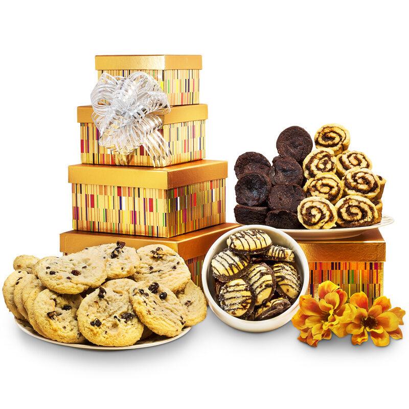 Gourmet Cookies Tower Box