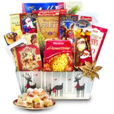 Christmas Reindeer Delivery - Basilur Tea & Panettone