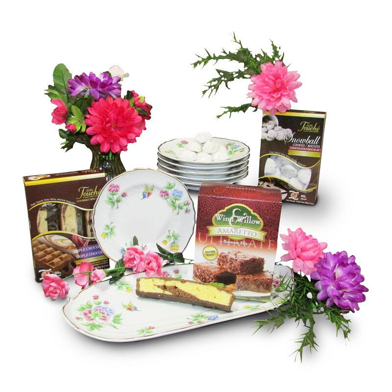 Porcelain Cake Set with Decadent Desserts