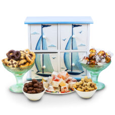 Sailboat Design Cabinet with Gourmet Sweets