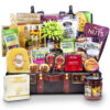 Gourmet English Cheese and Seafood - Deluxe Wooden Chest