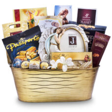 Sympathy Gift Basket With Angel Frame