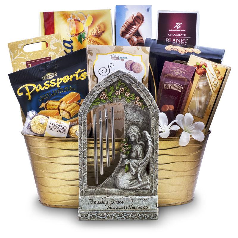 Amazing Grace Wind Chime Condolence gift basket