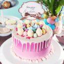 Raspberry Jam Infused Vanilla Cake - Easter Dessert
