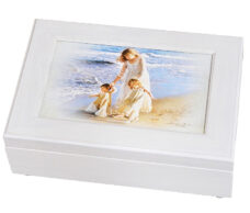 Mother and Children Jewelry Box Walk along the beach Jewelry Box Musical - Mother's Day Gifts