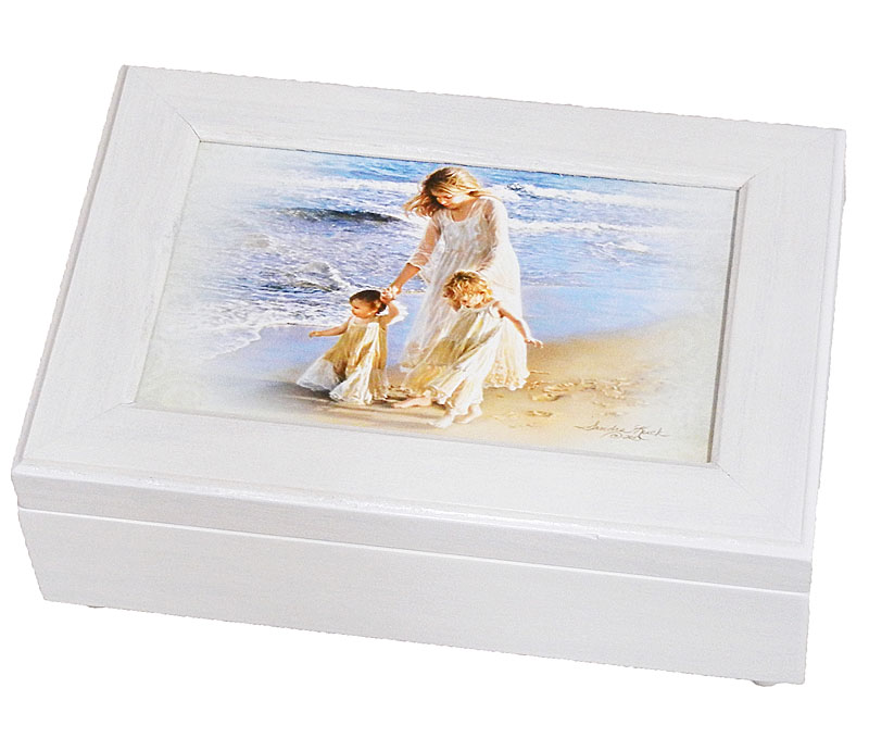 Walk Along The Beach Musical Jewelry Box
