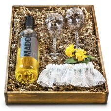 Bride and Groom Wedding Wine Gift Set - Canada
