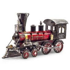 Vintage Style Red Metal Train