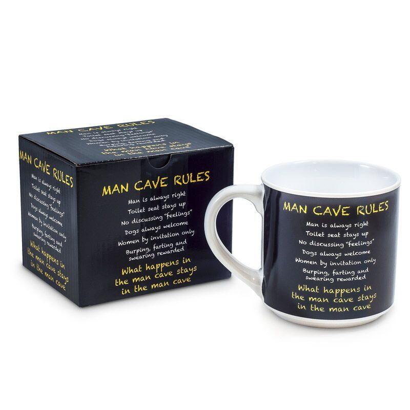 Inscription Mug Man Cave Rules - Gifts for Men