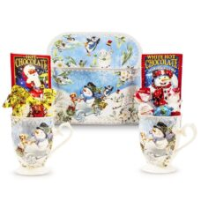Snowman Mugs Hot Chocolate Gift box