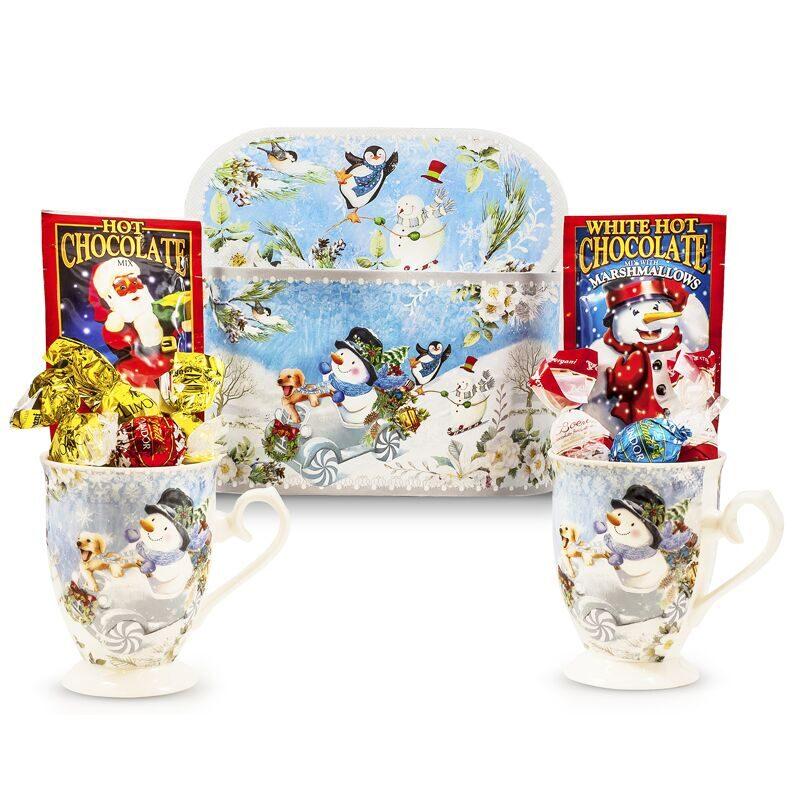 Snowman Mugs Hot Chocolate Gift box
