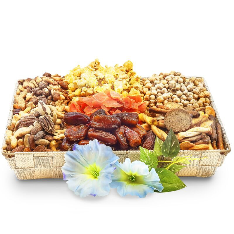 Nutty Nuts and Fruit Snacks Serving Tray