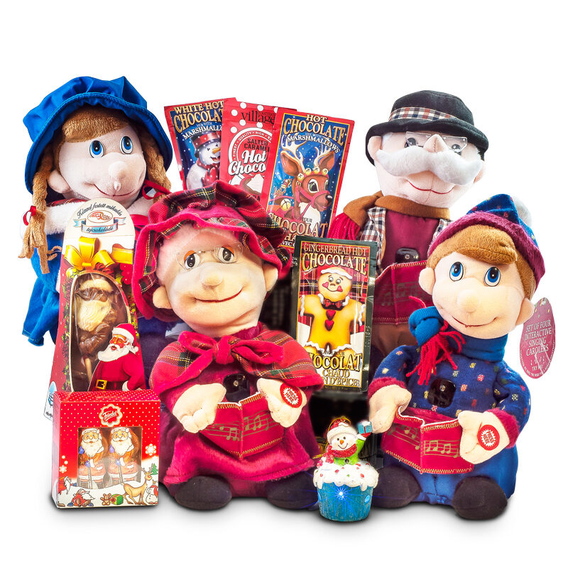 Interactive Singing Carolers - Set of 4 Musical Toys