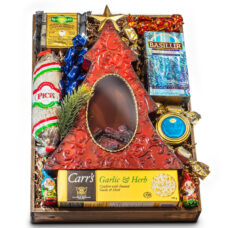 Fireplace Christmas Tree Gift and Luxury Gourmet Tray