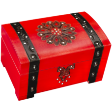 Big Red Riding Hood Trunk with Lock and Key